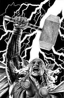 Bruises and Black Eyes, Thor by Lee Bermejo Comic Book Artists, Comic Artist, Comic Books Art, Lee Bermejo, The Mighty Thor, Splash Page, Marvel Comics Art, Art Studies, Cool Drawings