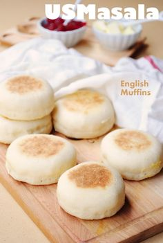 English Muffins - Homemade with simple ingredients.  So much better and cheaper than store bought.