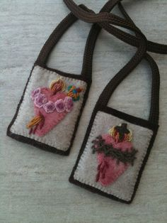 Scapular Craft--Would love to make one of these for MC, don't know that I am that talented with a needle though.