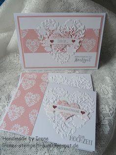 Irenes Stempeltraum: Hochzeitskarte Nr. 1 - Auslaufliste