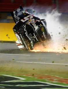 It has been awhile since we posted any videos or photos of NASCAR wrecks. We know what you people like. Check out this gallery of 25 nasty NASCAR crashes. Nascar Crash, Nascar Racing, Real Racing, Dirt Racing, Auto Racing, Nascar Wrecks, Mike Skinner, Phoenix International Raceway, Truex Jr