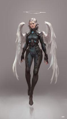 Sci-Fi Angel _ study by Sungryun Park on ArtStation.