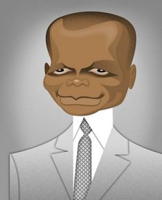 Sidney Poitier by Robert Risko, via - a super great talent of stage, film and television. Played his character roles in an exceptional fashion (ie. Guess Who's Coming for Diner) and others. Celebrity Caricatures, Celebrity Drawings, Celebrity Portraits, History Of Illustration, Caricature Drawing, Cartoon Faces, Interesting Faces, Art Drawings, Pencil Drawings