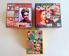 Frida kahlo inspired gift boxes Jewelry Gift Boxes by DulcetWhimsy