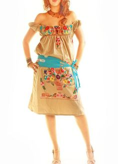 Aida Coronado embroidered Mexican dresses and tops