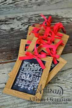nice people STAMP!: Chalkboard Christmas Tags: Stampin' Up! Artisan Blog Hop