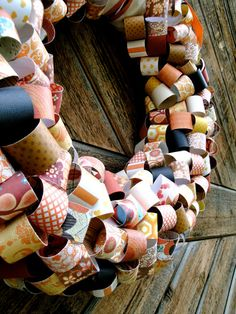 Fall Paper Wreath #Fall #Paper #Wreath