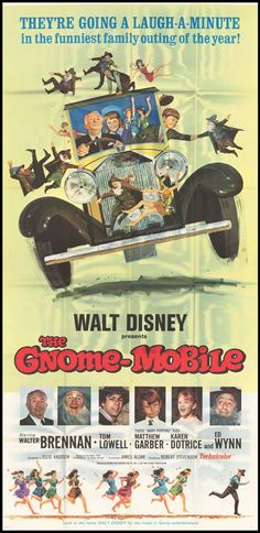 The Gnome-Mobile Disney movie poster 1967