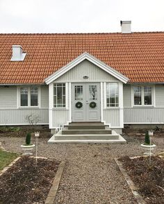 # pair doors # renovate # renovation … - Home & DIY Home Focus, Front Door Porch, Roof Colors, Exterior Paint Colors For House, Nordic Home, Country Style Homes, House Painting, Curb Appeal, Building A House