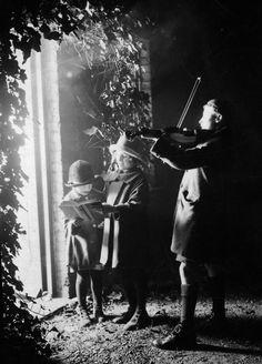 Christmas Caroling, December 1924