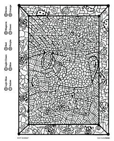 23 Ideas for Color by Number Adult Coloring Books . Coloring pages are no longer just for kids. Coloring books are marketing well in the grown-up market. Adult Color By Number, Color By Number Printable, Printable Numbers, Color By Numbers, Paint By Number, Disney Coloring Pages, Coloring Book Pages, Printable Coloring Pages, Coloring Sheets