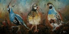 16x24 Print of oil painting Quail 9 by Roz by RozArt on Etsy, $55.00