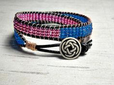 Save 15% OFF your purchase with code CIJ15 Double Wrap Bracelet Eggplant and Blue Wrap by BeadWorkBySmileyKit, $27.00