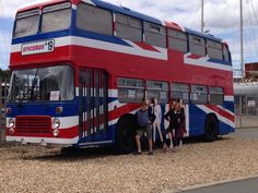 Me and my sister with the spice girls old tour bus