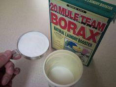 Dishwasher soap recipe & rinse aid
