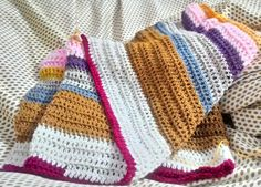 Work in progress - blanket with the waste yarns..