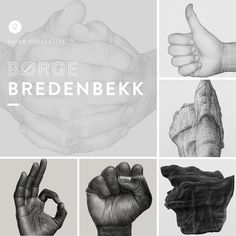 Børge Breenbekk for Paper Collective. Folded Hands, Like, Rock 02, Rock 50/5- B, Raised Fist & OK. See all prints at https://paper-collective.com/artists/borge-bredenbekk/posters/bekk/posters/  #papercollective #realistic #hand #art #illustration #drawing #nature #monochrome #grey #print #poster #posterdesign #design #interior #home #decor #homedecor #wallart #artprint
