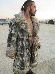 Regal MEN'S Faux FUR COAT by FrolickerFashions on Etsy