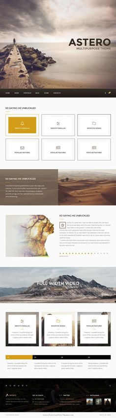 Astero is a universal premium PSD #template for multipurpose #website with 20+ stunning homepages layouts. Download Now!