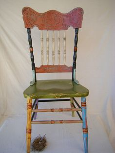 Boho Chic Handpainted Chair. $235.00, via Etsy. (kk-desk)