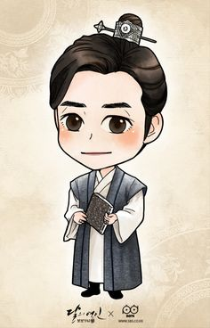 Moon Lovers: A Happy Ending 😃 ( Discontinued) - Improvement Kang Ha Neul Moon Lovers, Scarlet Heart Ryeo Cast, Moonlight Drawn By Clouds, Cute Couple Art, Chinese Cartoon, Heart Illustration, Fanart, Drama Korea, Korean Art