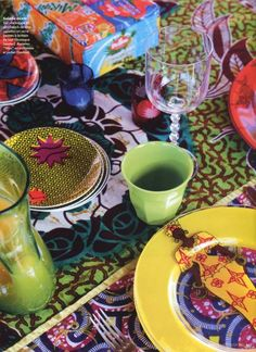 African prints for tableware