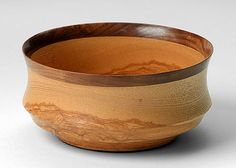 hand-carved wood bowl