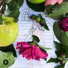 ________________ _______________ #SomeFlowerGirls #fall #fashionillustration // #apple #atelier