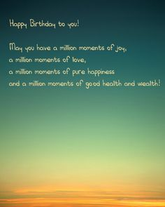 Birthday card with wishes