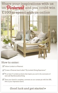 Summer is the perfect time to refresh your garden. Share your ourdoor dining inspiration with us and you could win to spend with us online. Competitions Uk, Outdoor Dining, Outdoor Decor, Lombok, Outdoor Furniture, The Originals, Bed, Garden, Patio