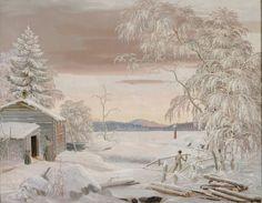 Kansallisgalleria - Taidekokoelmat - Talvimaisema Savosta auringonlaskun aikaan