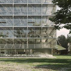 BAUKUNST + Bruther - Winterthur // ArtefactoryLab Bruther Architecture, Architecture Visualization, Architecture Portfolio, Architecture Diagrams, Glass Building, High Building, Winterthur, Site Plans, Steel Buildings