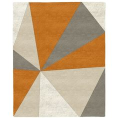 West Elm Kaleidoscope Wool Rug, Sorrel, 8'x10' - Decorative Rugs -... ($1,399) ❤ liked on Polyvore featuring home, rugs, brown, west elm, west elm area rugs, wool area rugs, handmade wool area rugs and handmade wool rugs
