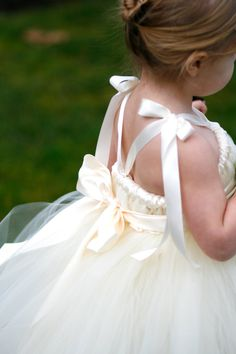 Ivory Flower Girl Tutu Dress with Rosette by littledreamersinc Flower Girl Tutu, Flower Girl Dresses, Flower Girls, Bridesmaid Flowers, Bridesmaid Dresses, Wedding Dresses, Little Girl Dresses, Girls Dresses, Pageant Dresses