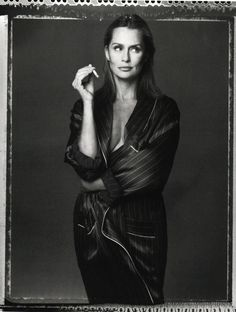 Vogue Italia December 1993 Lauren Hutton by Steven Meisel and...