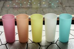 All my childhood drinks were in these Tupperware cups