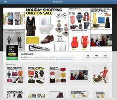 www.coolonsale.com instagram's page - follow us  -   Coolonsale.com allows shoppers to created personalized #sales #outlets for your favorite #designers #stores and themes. coolonsale.com finds things you want for you  when they arrive and lets you know. A new smart way to shop