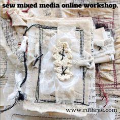 Nähen Sie gemischten Medien-Online-Workshop. von ruthrae auf Etsy                                                                                                                                                                                 Mehr