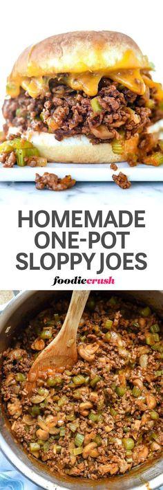 Homemade Ground Beef One-Pot Sloppy Joe Recipe