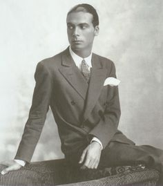 Cristóbal Balenciaga in 1927. Born in Spain in 1895 opened first in Spain 1919 moving to Paris in 1937 where he opened a couture house on Avenue George V.