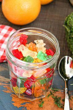 Paddington Movie Night - Guess how many Gummi Bears are in the jar activity.