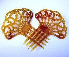 Art Deco Hair Combs 2 Spanish Combs Hair by ElrondsEmporium