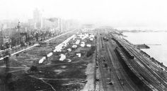 Grant Park looking north from Illinois Central Station c. 1890