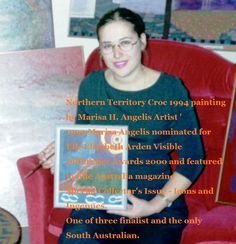 Marisa Angelis - Australian Visual Artist Painter Designer Writer Poet Philanthropist Humanitarian Promoter-    Picture featured in 'The Elle Australia Magazine 2000' © MarisaAngelis - www.marisaangelis.com