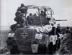 """Risultati immagini per Sd.Kfz.232 (8-Rad) of the SS Division """"Wiking"""