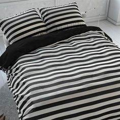 Black&White Bedding. Sleeptime Theun dekbedovertrek #zwart-wit #strepen