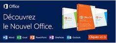 Office 2013 : découvrez le !!!  Word 2013 : Créez de beaux documents et appréciez-en la lecture.                       Avec le nouveau mode de lecture à l'écran, les documents Word sont agréables à lire.          Ouvrez un PDF dans Word et réutilisez-en les textes, listes et tableaux.  Outlook 2013  Prenez le contrôle de votre journée. Gérez vos emails, calendriers, contacts et tâches. Jetez un coup d'œil sur votre agenda, sur un rendez-vous particulier .....