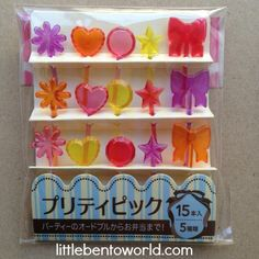 Jeweled Food Picks http://littlebentoworld.com/shop/food-picks/jeweled-food-picks/