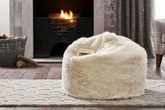 Buy Textured Cream Faux Fur Bean Bag from the Next UK online shop