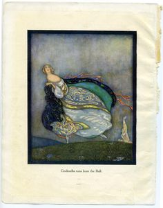Cinderella by Jennie Harbour, from My Book of Favourite Fairy Tales, Published by Raphael Tuck and Sons, London, 1921.